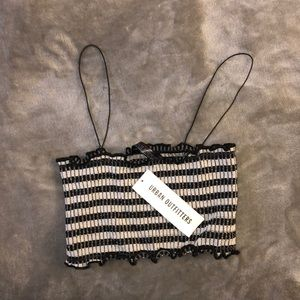 Urban outfitters stripped Bandeau crop top